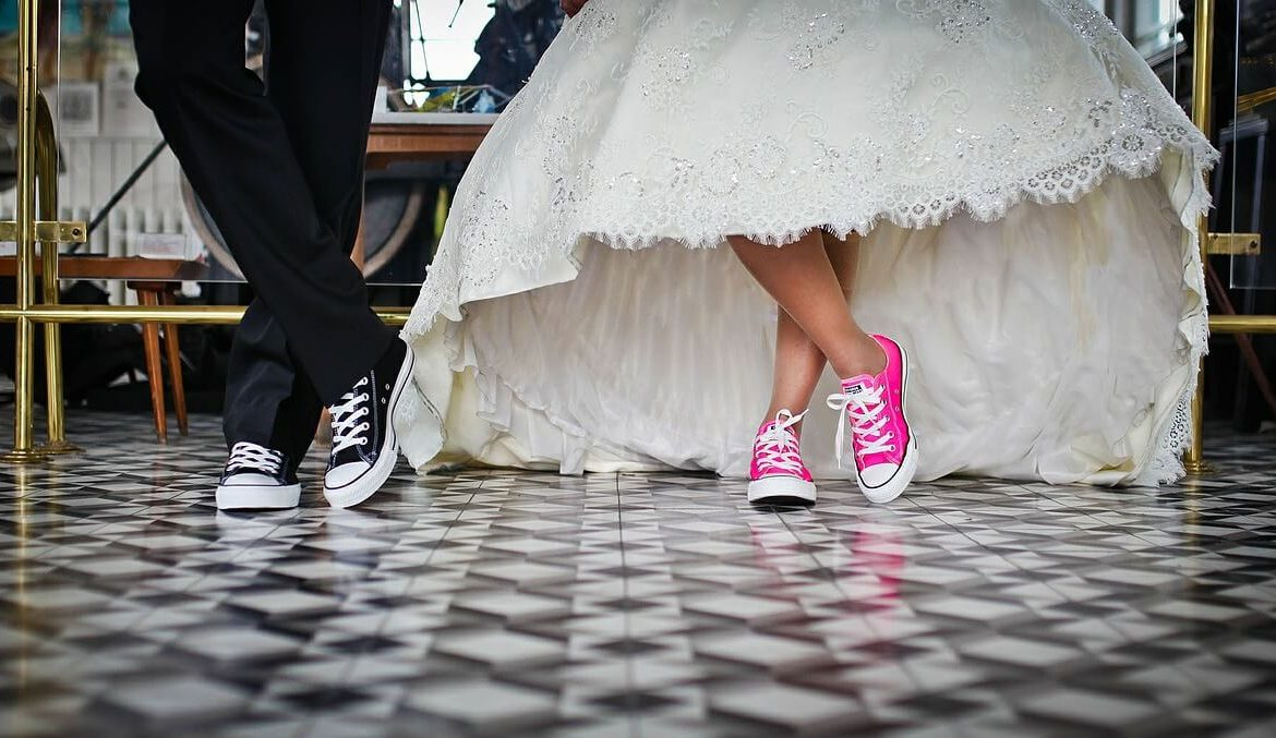 Shoes and bride concept