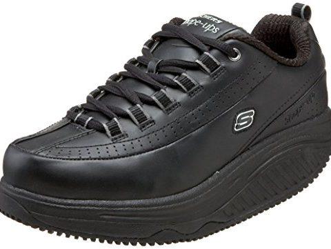 Skechers for Work Women's Shape Ups Slip Resistant Sneaker